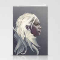 dragon Stationery Cards featuring Mother of Dragons by Artgerm™