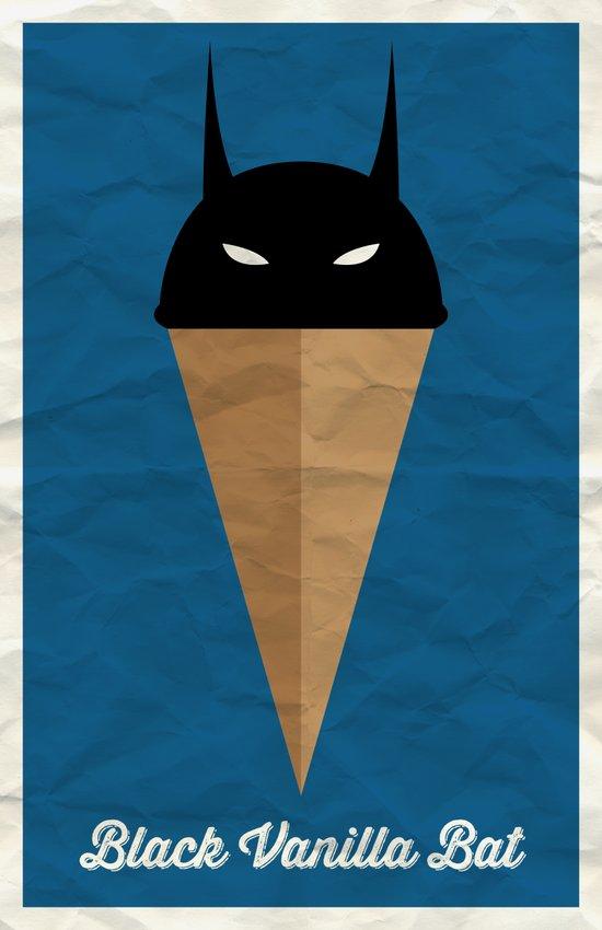 Black Vanilla Bat Art Print