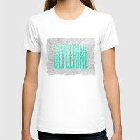 Glycerine Womens Fitted Tee White SMALL