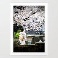Kiyamachi Kimono, Kyoto Art Print