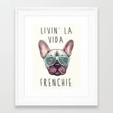 French bulldog - Livin' la vida Frenchie Framed Art Print