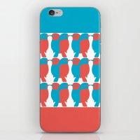 BLUE/RED BIRDS  iPhone & iPod Skin