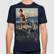 I Lost My Light Mens Fitted Tee Navy SMALL