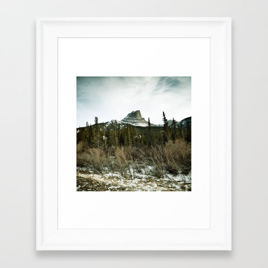 Pocahontas mountain Framed Art Print
