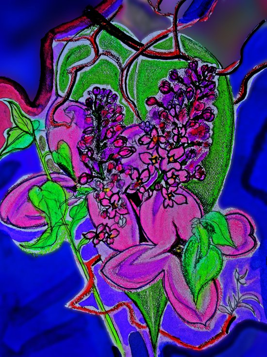 Lilac Heart Art Print