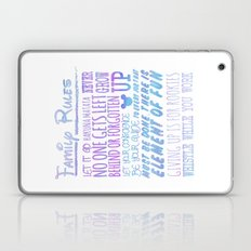 our family rules  Laptop & iPad Skin