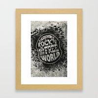 Keep On Rock'n!  Framed Art Print