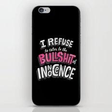The Bullshit of Innocence  iPhone & iPod Skin