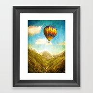 Flying Over The Mountain… Framed Art Print