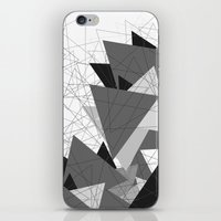 Triangle Grey iPhone & iPod Skin