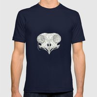 Hiding Place Mens Fitted Tee Navy SMALL