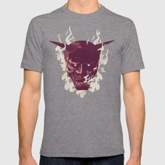 Onibaba Mens Fitted Tee Tri-Grey SMALL