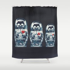 Nesting Doll X-Ray Shower Curtain
