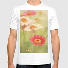 Daisy Love White Mens Fitted Tee SMALL
