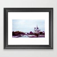 NOTRE DAME DE PARIS SUR … Framed Art Print