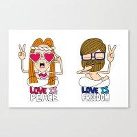 LOVEISPEACE&FREEDOM Canvas Print