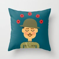 Throw Pillow featuring Remembrance Day by Mouki K. Butt