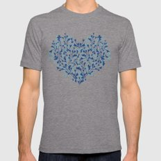 HEARTS PLANTATION [yellow] Mens Fitted Tee Tri-Grey SMALL