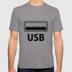 USB Mens Fitted Tee Tri-Grey SMALL