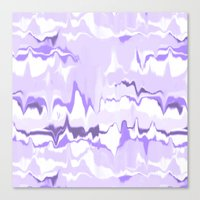 Marbled In Orchid Canvas Print