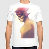 Kidflash Mens Fitted Tee White SMALL