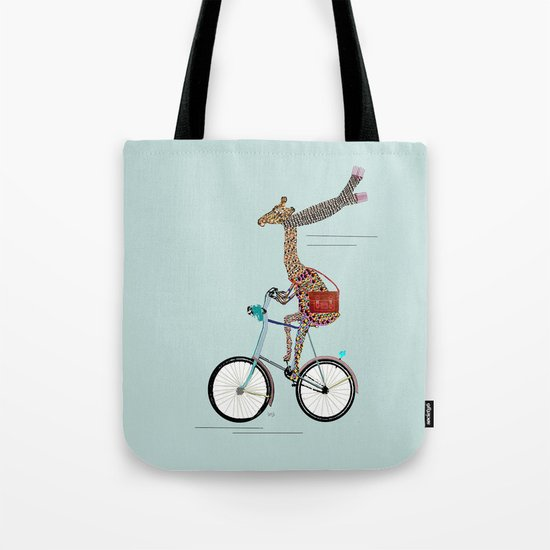 Giraffes School Days  Tote Bag