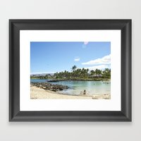 Just Beachy. How Are You… Framed Art Print