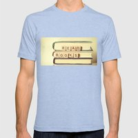 Read Books Mens Fitted Tee Tri-Blue SMALL