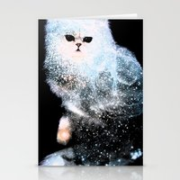 Celestial Cats - The Persian and the Ashes of the First Stars Stationery Cards