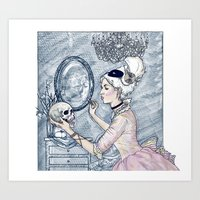 Marie Antoinette Halloween Select Color Art Print