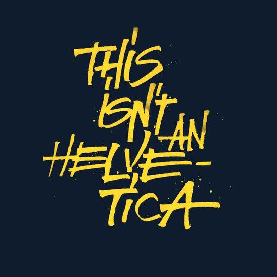 """""""Helvetica"""" Lettering Art Print"""