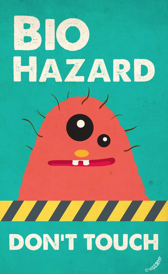 Germusu Biohazard Sign Art Print