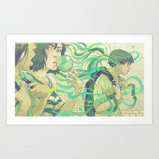Ghost Hedghog  Art Print