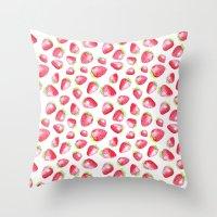 Summer Berries Throw Pillow