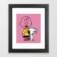 Peanuts And Butthead Framed Art Print