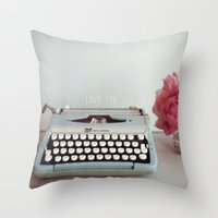 Hello With Love  Throw Pillow