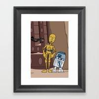 EP6 : C-3PO & R2-D2 Framed Art Print