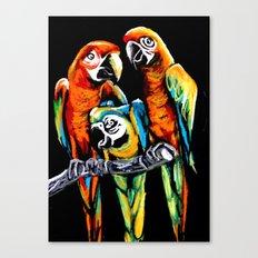 Bright Parrots Canvas Print
