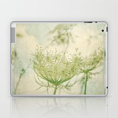 Sanctuary -- White Queen Anne's Lace Meadow Wild Flower Botanical Laptop & iPad Skin
