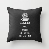 Keep Calm - Lost Poster Throw Pillow