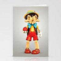 Skull Pinocchio Stationery Cards