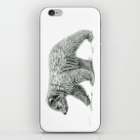 Polar Bear's Cub   B/W B… iPhone & iPod Skin