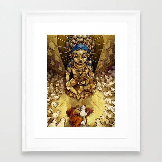 Sacred Cats of Burma Framed Art Print