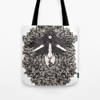 A Lady And Her Skulls (P… Tote Bag