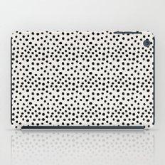 Preppy brushstroke free polka dots black and white spots dots dalmation animal spots design minimal iPad Case