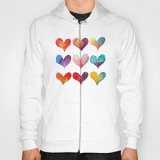 color of hearts Hoody