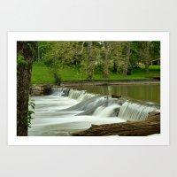 Falls Creek in Falls Park, Pendleton, IN Art Print