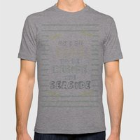 Oh I Do Like To Be Besid… Mens Fitted Tee Athletic Grey SMALL