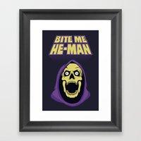 Skeletor - Bite me Framed Art Print