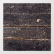 Vintage Black Wood Canvas Print